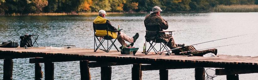 2 Men fishing on a dock