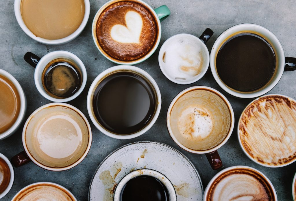 Various cups of coffee
