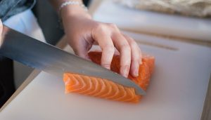 Salmon cut Chef's knife