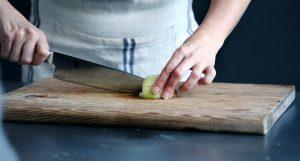 Chef on a cutting board