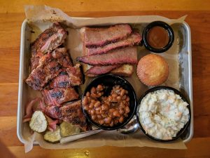Brisket in basket with other food
