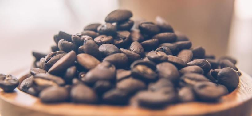 Coffee beans pile