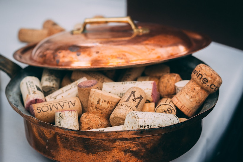 Corks in a Copper Pan