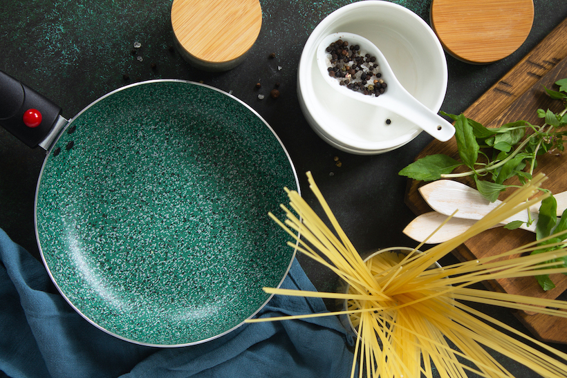 Empty Ceramic Pan for Pasta