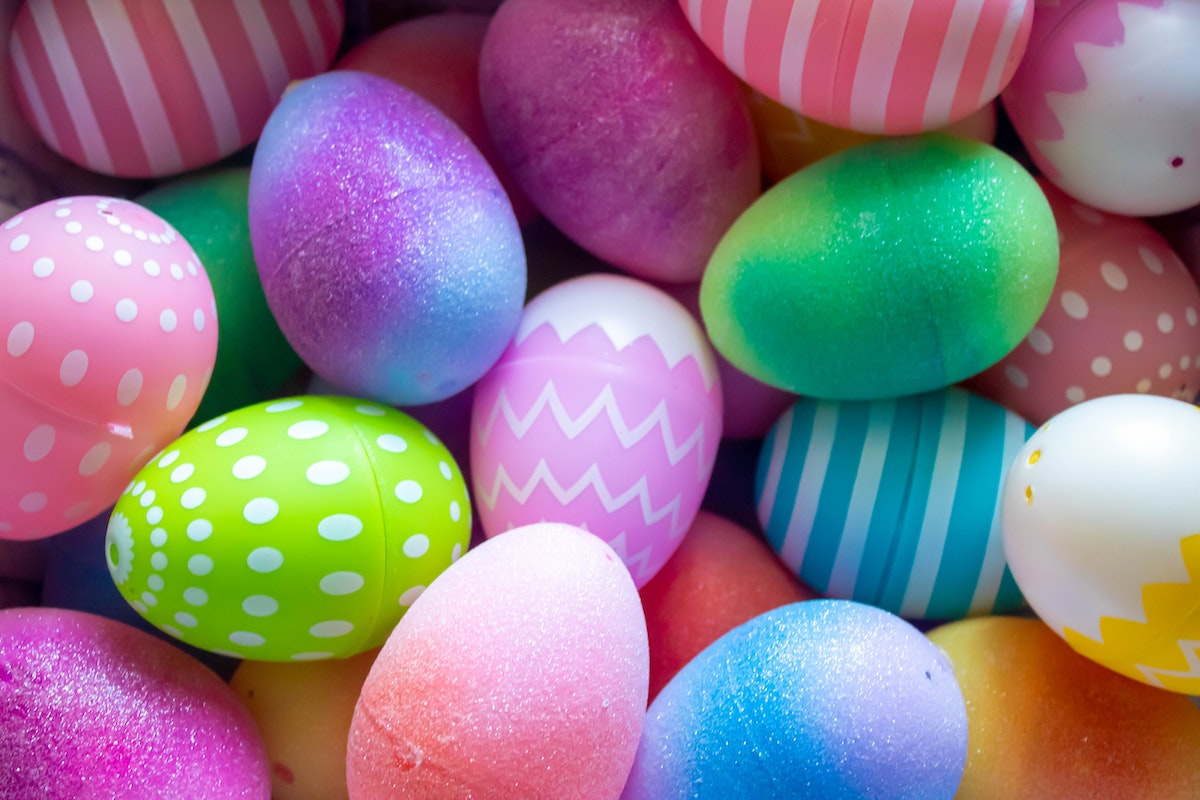 Plastic Easter Eggs in a pile