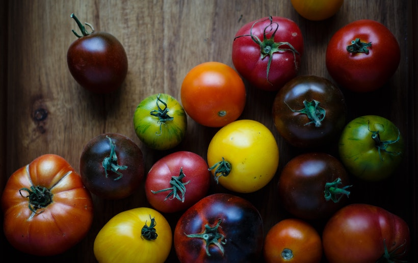 Small colleciton of heirloom tomatoes
