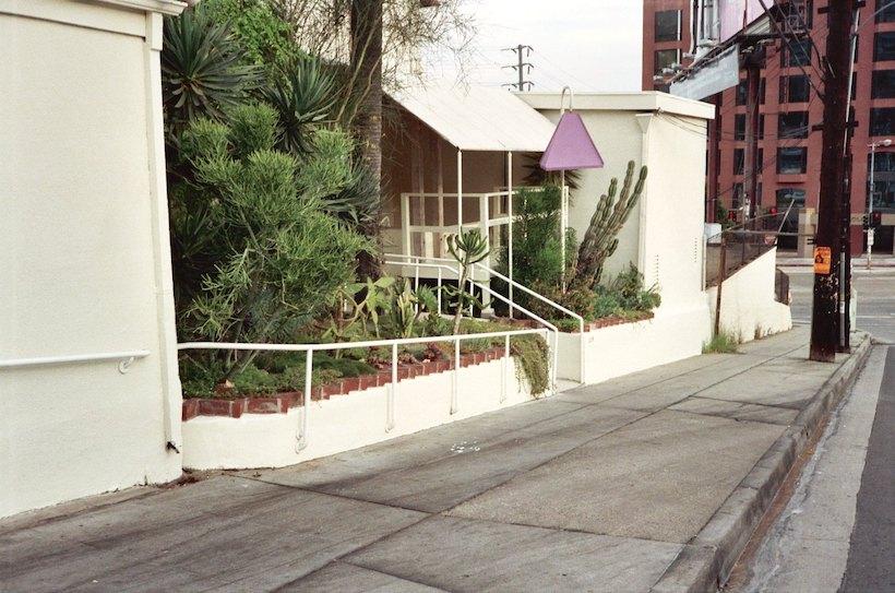 Spago Restaurant in LA in 1988, Horn Street entrance